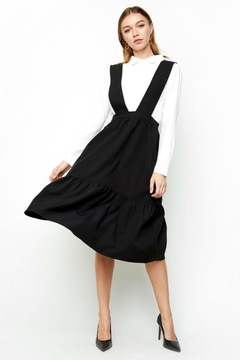 Hayden Los Angeles Tiered Overall Dress - Product List Image