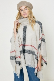 Hayden Los Angeles Turtleneck Sweater Poncho - Front cropped