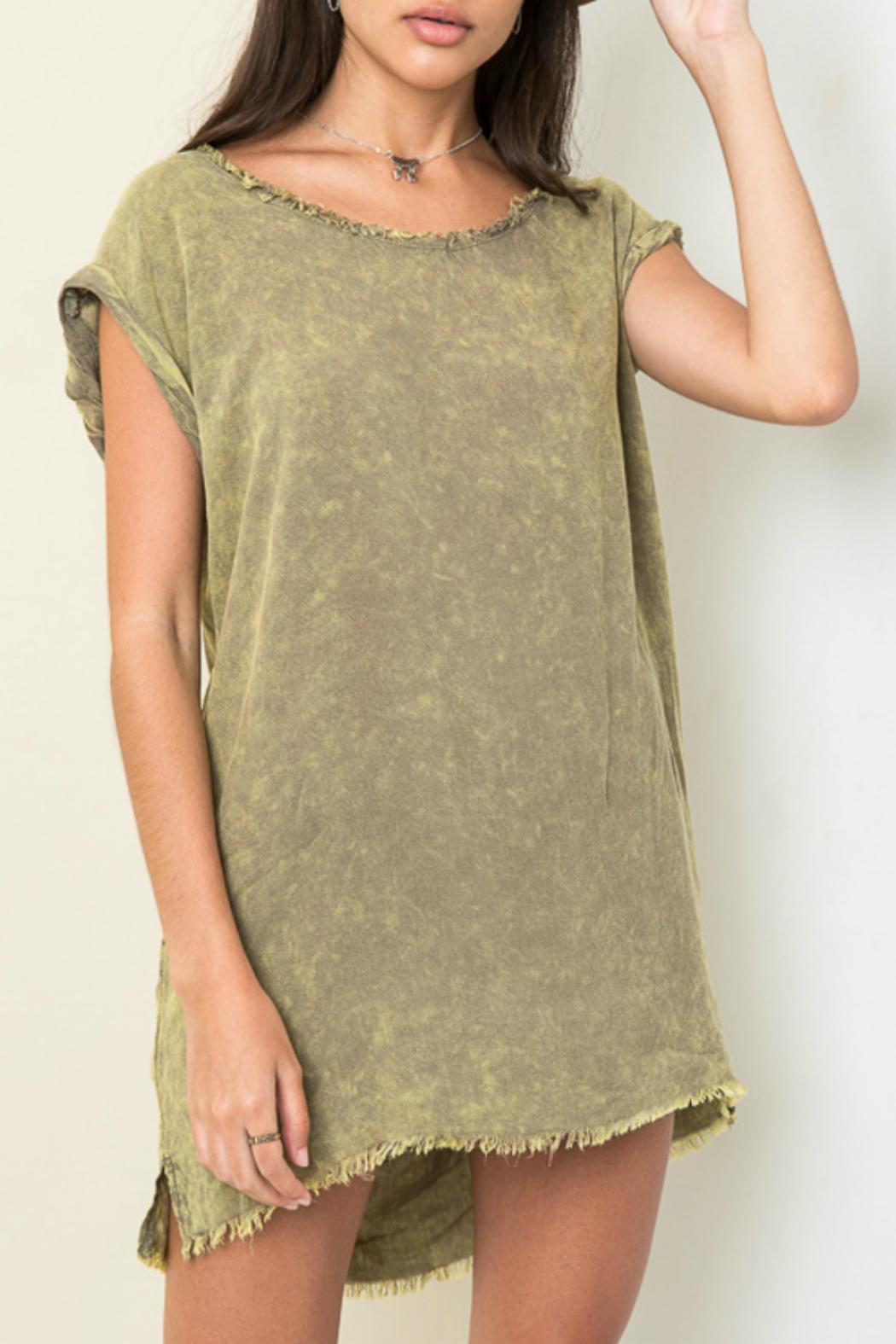 Hayden Los Angeles Washed Distressed Top - Main Image