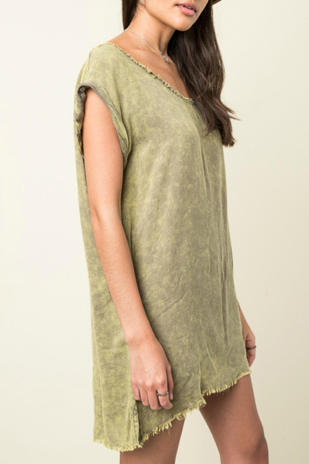 Hayden Los Angeles Washed Distressed Top - Front Full Image