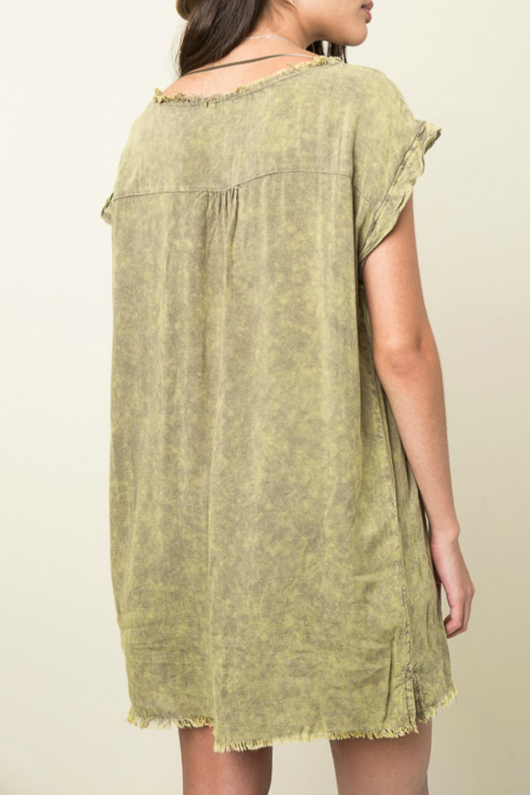 Hayden Los Angeles Washed Distressed Top - Side Cropped Image