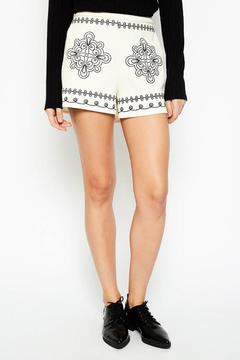 Hayden Los Angeles White Embroidered Shorts - Product List Image