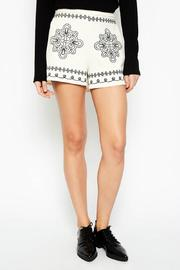 Hayden Los Angeles White Embroidered Shorts - Product Mini Image