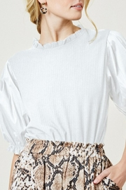 Hayden Los Angeles Puff Sleeve Top - Product Mini Image