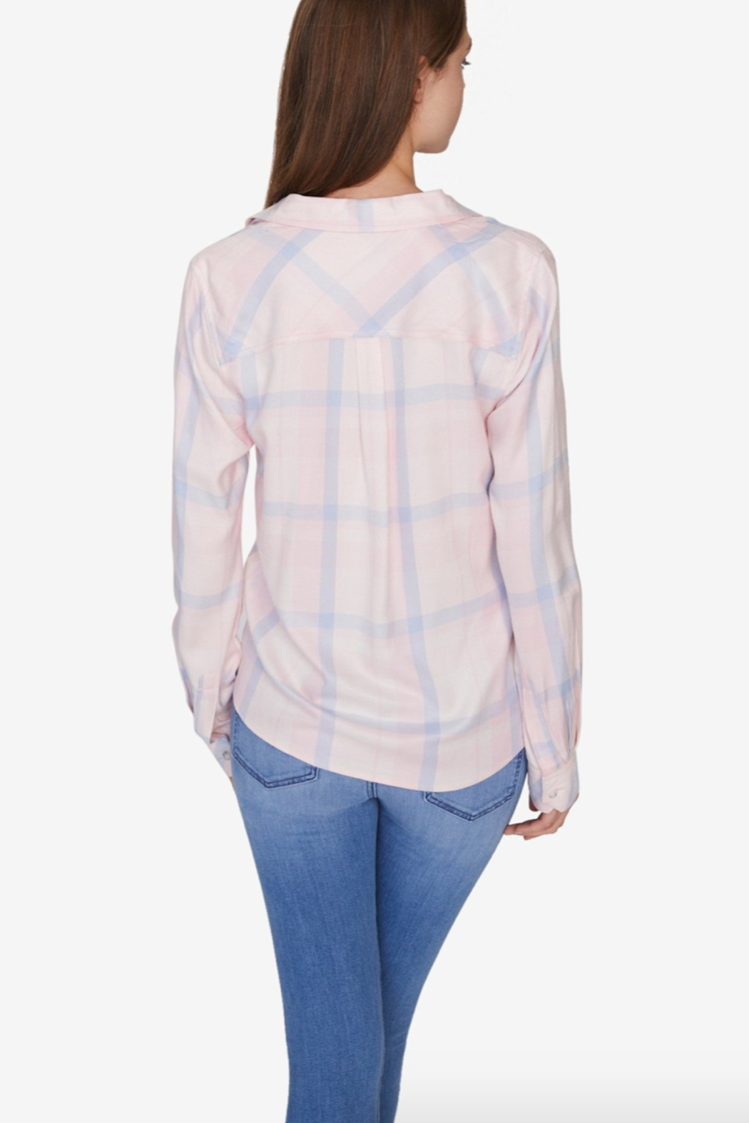 Sanctuary Hayley Tie Front Plaid Shirt - Front Full Image