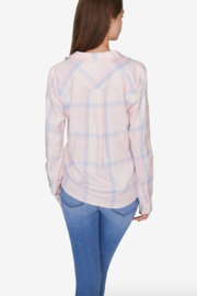 Sanctuary Hayley Tie Front Plaid Shirt - Front full body