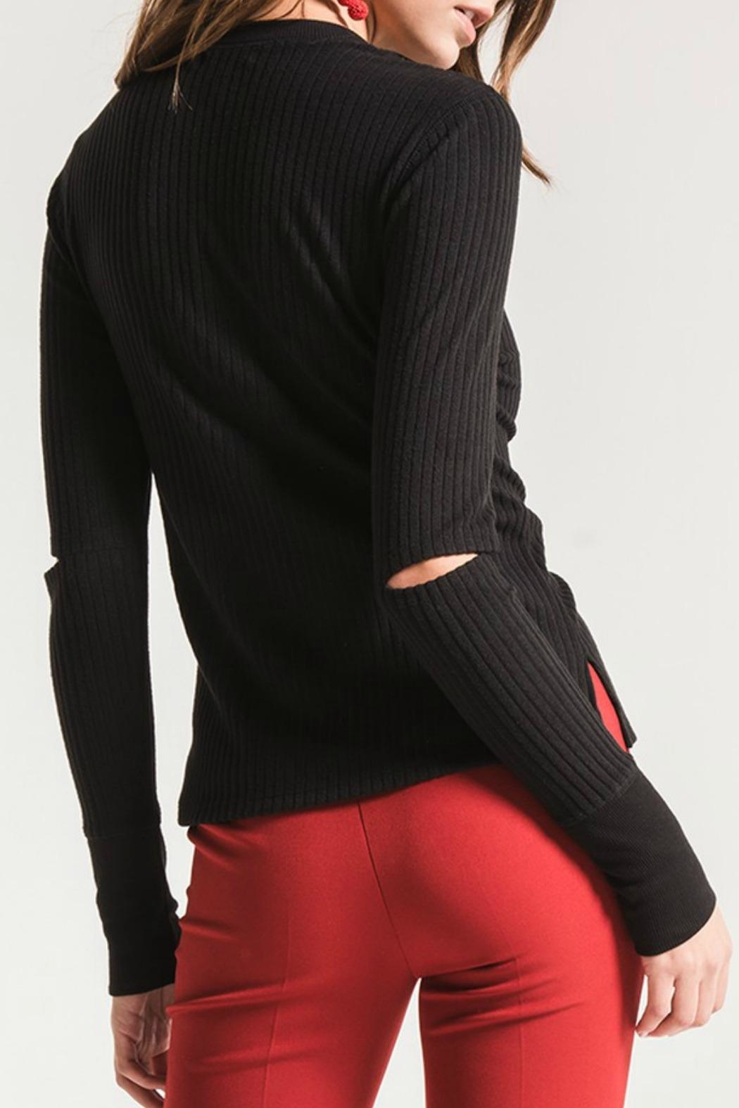 Black Swan Haylie Ribbed Top - Front Full Image