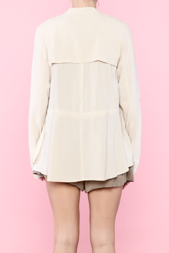 Hazel Beige Linen Jacket - Alternate List Image