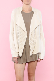 Hazel Beige Linen Jacket - Product Mini Image