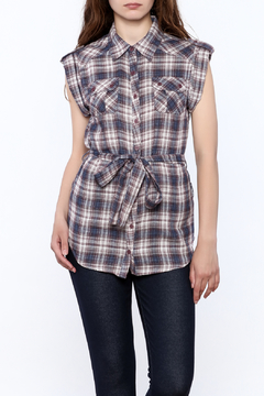 Hazel Plaid Print Tunic Top - Product List Image