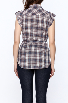 Hazel Plaid Print Tunic Top - Alternate List Image