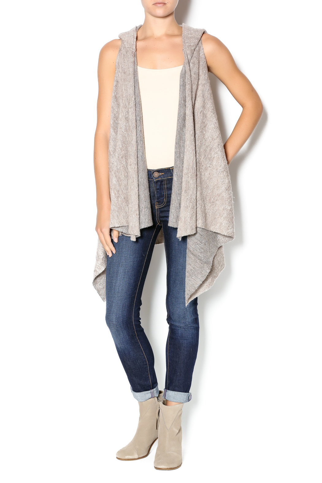 Hazel Hooded Long Vest from Syracuse by Steph Boutique ...
