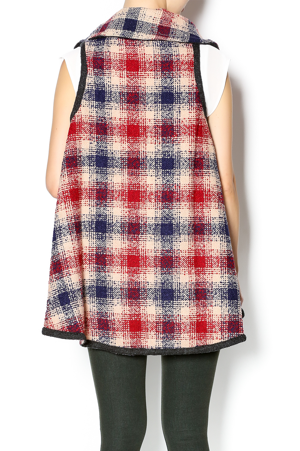 Hazel Mad For Plaid Vest - Back Cropped Image