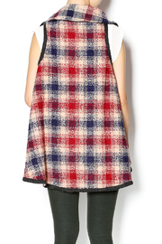 Hazel Mad For Plaid Vest - Back cropped