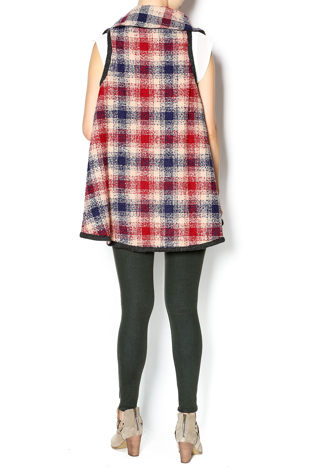 Hazel Mad For Plaid Vest - Side Cropped Image