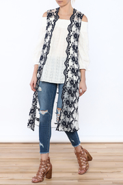 Hazel Embroidered Sleeveless Duster - Product Mini Image