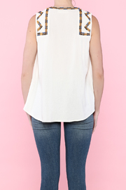 Hazel White Sleeveless Top - Back cropped