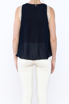 Hazel Navy Accordion Blouse - Alternate List Image