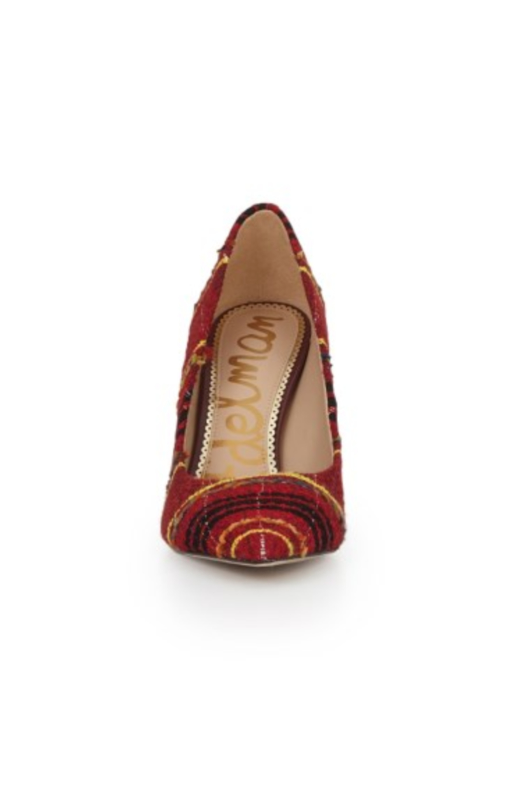 Sam Edelman Hazel Red Multi Heel - Back Cropped Image