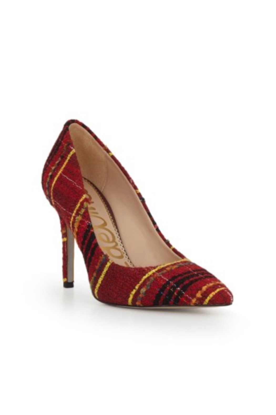 Sam Edelman Hazel Red Multi Heel - Side Cropped Image