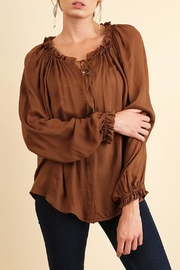 Umgee USA Hazel Silky Blouse - Front cropped
