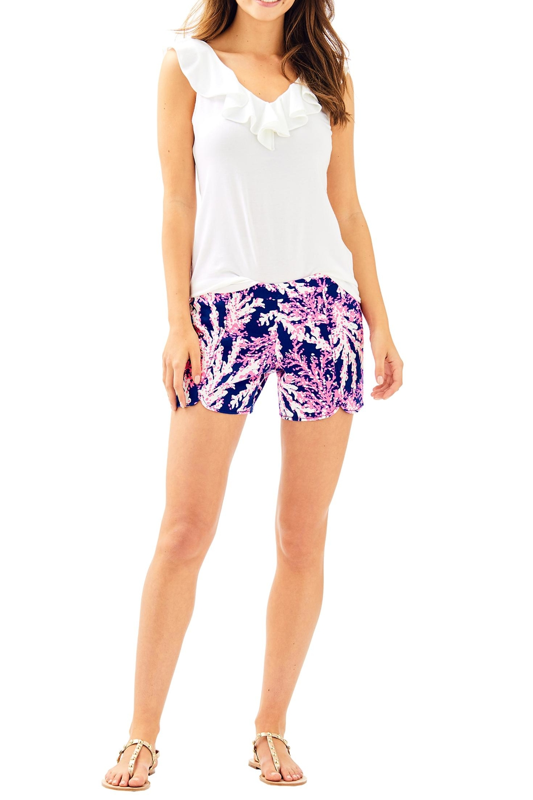 Lilly Pulitzer Hazelle Stretch Short - Back Cropped Image