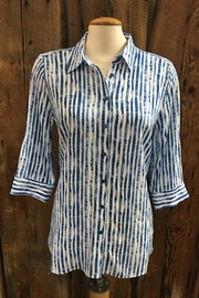 FDJ French Dressing Hazy Stripe Blouse - Front cropped