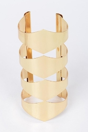 HD Glamarous Gold Bangle - Front cropped