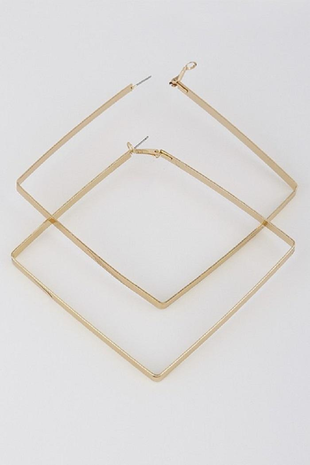 HD Triangle Hoop Earrings - Front Cropped Image