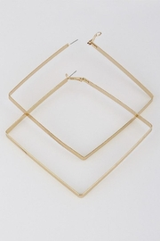 HD Triangle Hoop Earrings - Front cropped