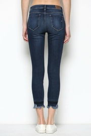 Hidden Jeans HD7452-DK  Dark Wash Released Frayed Hem Skinny - Back cropped