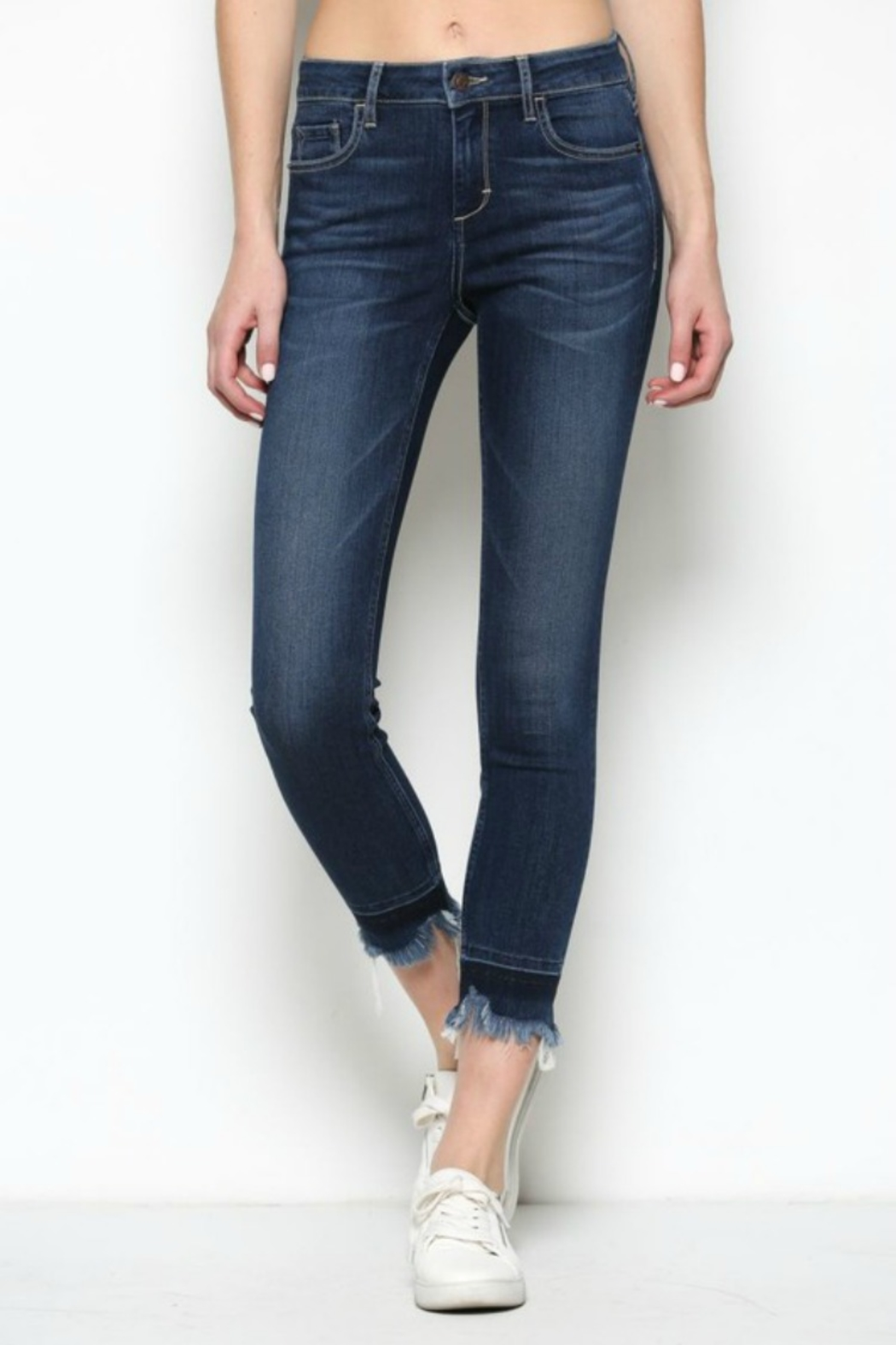 Hidden Jeans HD7452-DK  Dark Wash Released Frayed Hem Skinny - Main Image