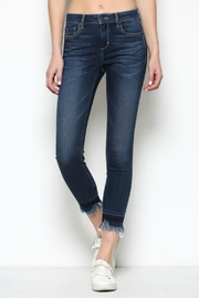 Hidden Jeans HD7452-DK  Dark Wash Released Frayed Hem Skinny - Front cropped