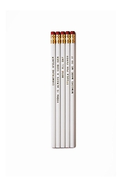 He Said, She Said Beverage Pencil Set - Front cropped