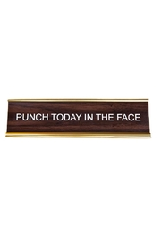 He Said, She Said Punch Today Nameplate - Front cropped