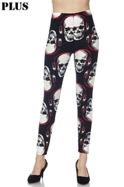 New Mix Headphone Skulls Legging - Product Mini Image