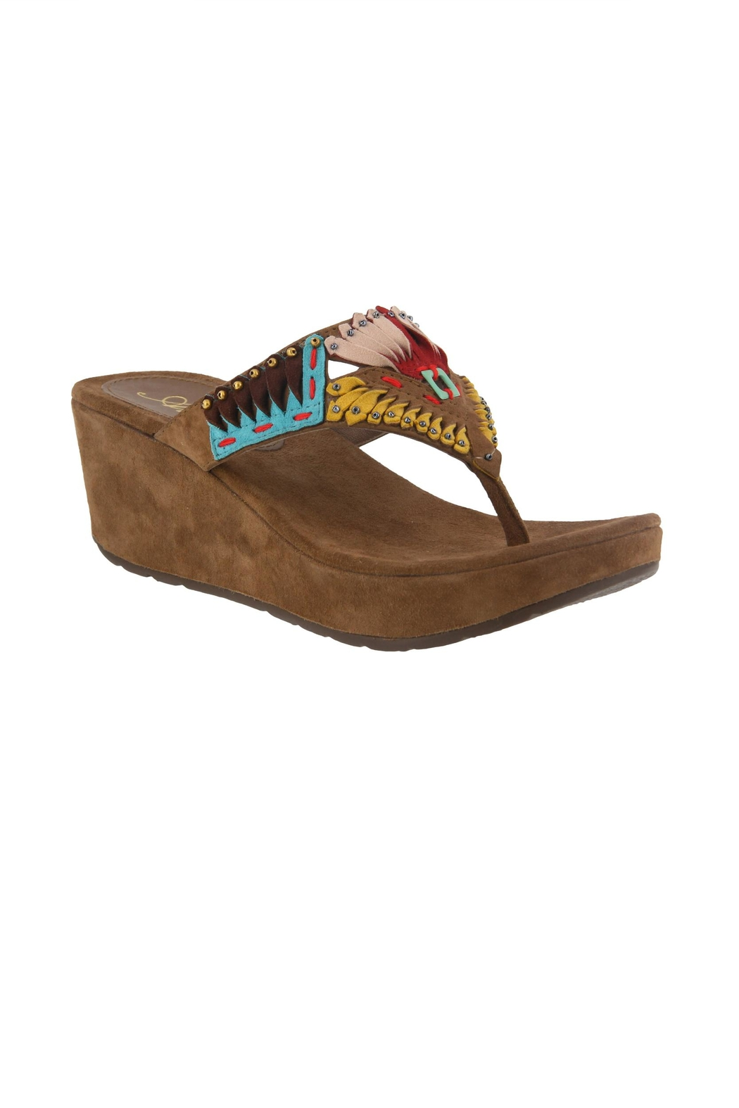 Spring Footwear Headress Bold Sandals - Front Cropped Image