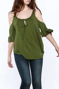 Shoptiques Product: Olive Ruffle Top