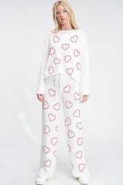 Phil Love  Heart All Over Lounge Top - Front full body