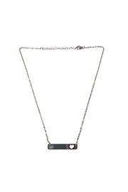 Lets Accessorize Heart Bar Necklace - Front cropped