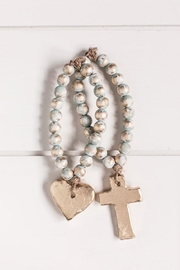 The Sercy Studio  Heart Blessing Beads - Front full body