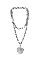 Lets Accessorize Heart Chain-Link Necklace - Product Mini Image