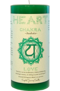 Crystal Journey Candles Heart Chakra Candle - Alternate List Image