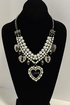 No Label  Heart Charm Necklace - Product List Image