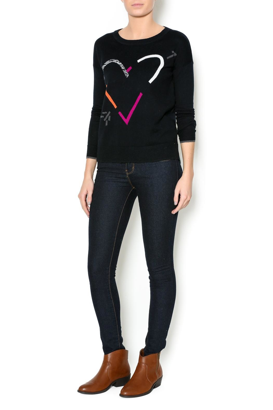 Lisa Todd Heart Crew-Neck Sweater - Side Cropped Image