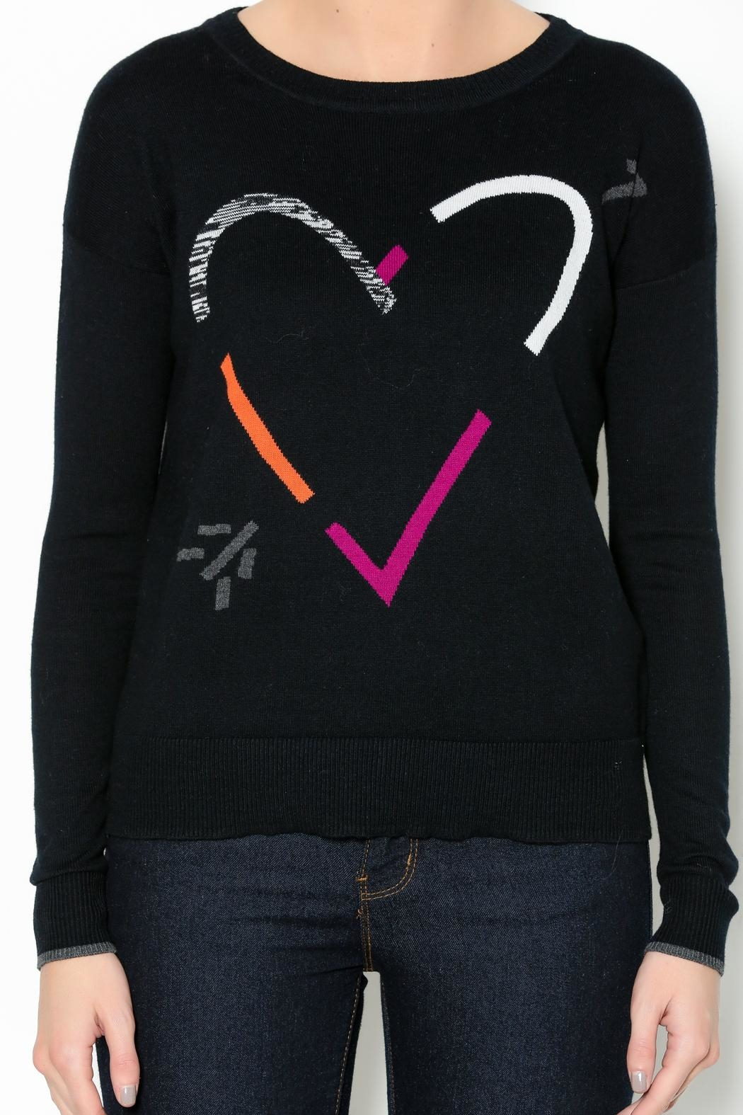Lisa Todd Heart Crew-Neck Sweater - Front Full Image
