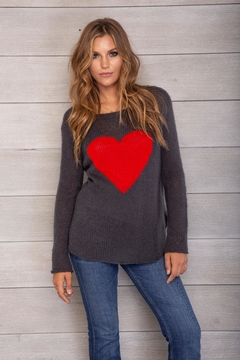 Wooden Ships Heart Crewneck - Product List Image