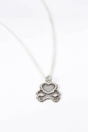Aurora Joleen Designs Heart Crossbones Necklace - Product Mini Image
