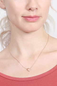 Riah Fashion Heart-Crystal Pave-Necklace - Alternate List Image