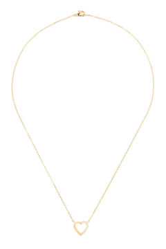 Riah Fashion Heart-Crystal Pave-Necklace - Product List Image